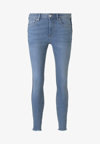 TOM TAILOR DENIM - MIT STREIFEND - Jeans Skinny Fit - mid stone blue denim - 6