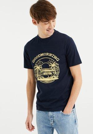 MET OPDRUK - Print T-shirt - dark blue