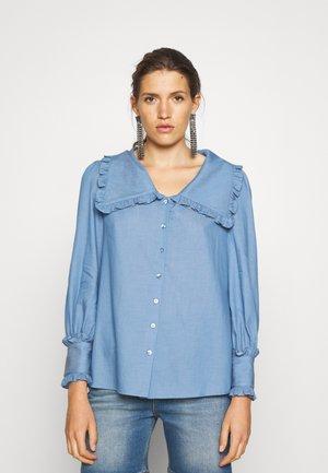 BLOOMSBURY RUFFLE COLLAR - Pusero - blue