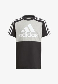 adidas Performance - COLORBLOCK T ESSENTIALS SPORTS REGULAR T-SHIRT - Print T-shirt - grey - 0