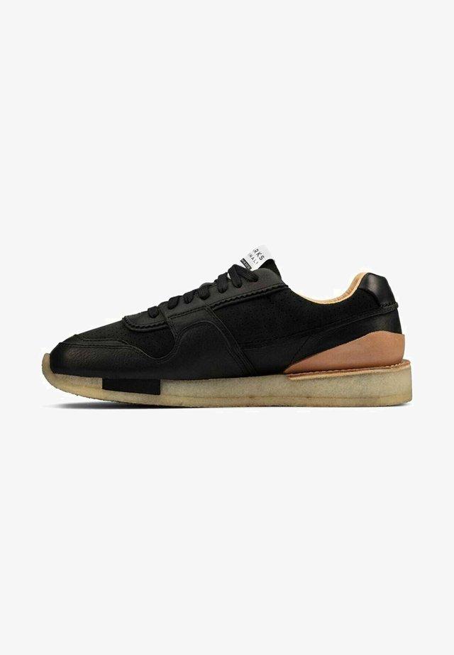 Sneakers laag - black leather