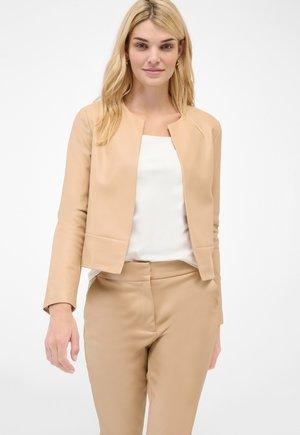 Leather jacket - beige caro