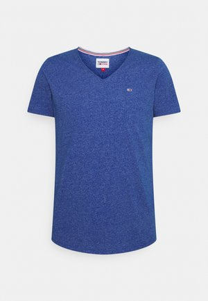 SLIM JASPE V NECK - T-shirt basic - providence blue