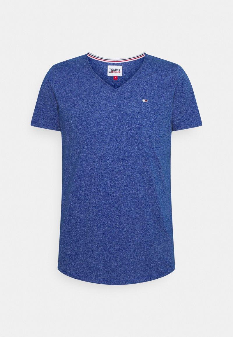 Tommy Jeans - SLIM JASPE V NECK - Jednoduché triko - providence blue