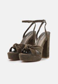 Even&Odd - LEATHER - High heeled sandals - khaki - 2