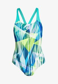 SHADING PRISM SWIM PRO BACK ONE PIECE - Swimsuit - mint/multi
