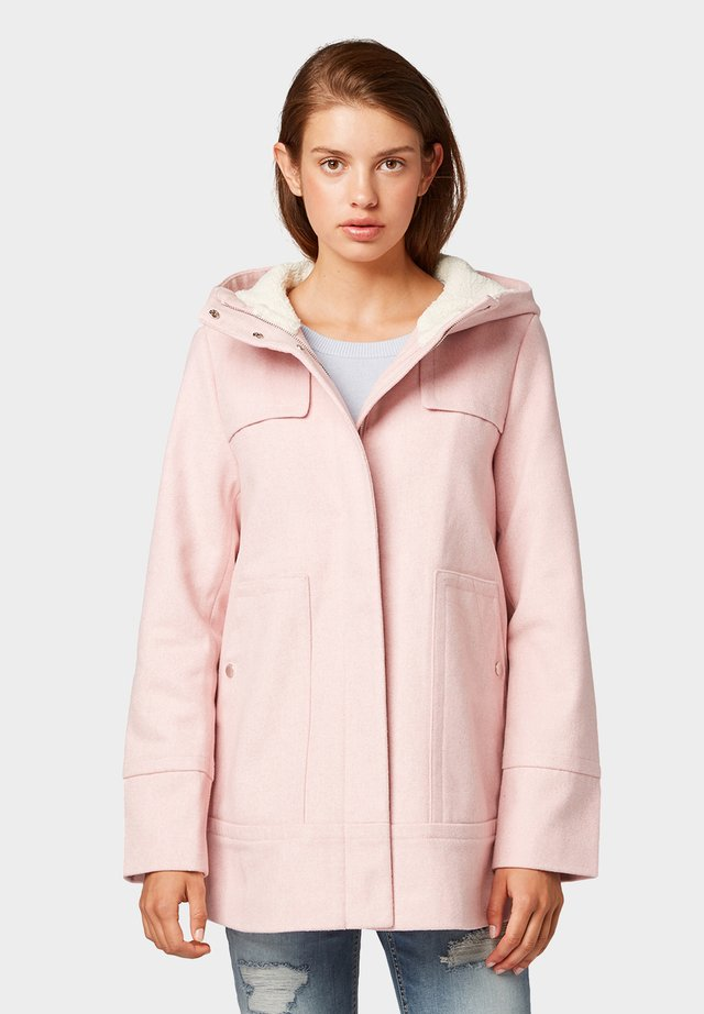 SHORT COAT - Abrigo corto - light pink