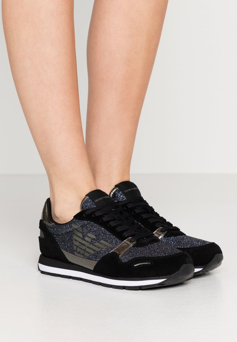 Emporio Armani - Trainers - black/gold