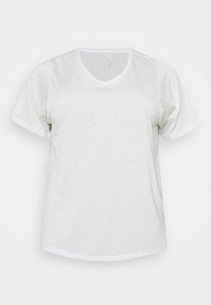 ONPMEE TRAIN TEE CURVY - T-shirt basic - white