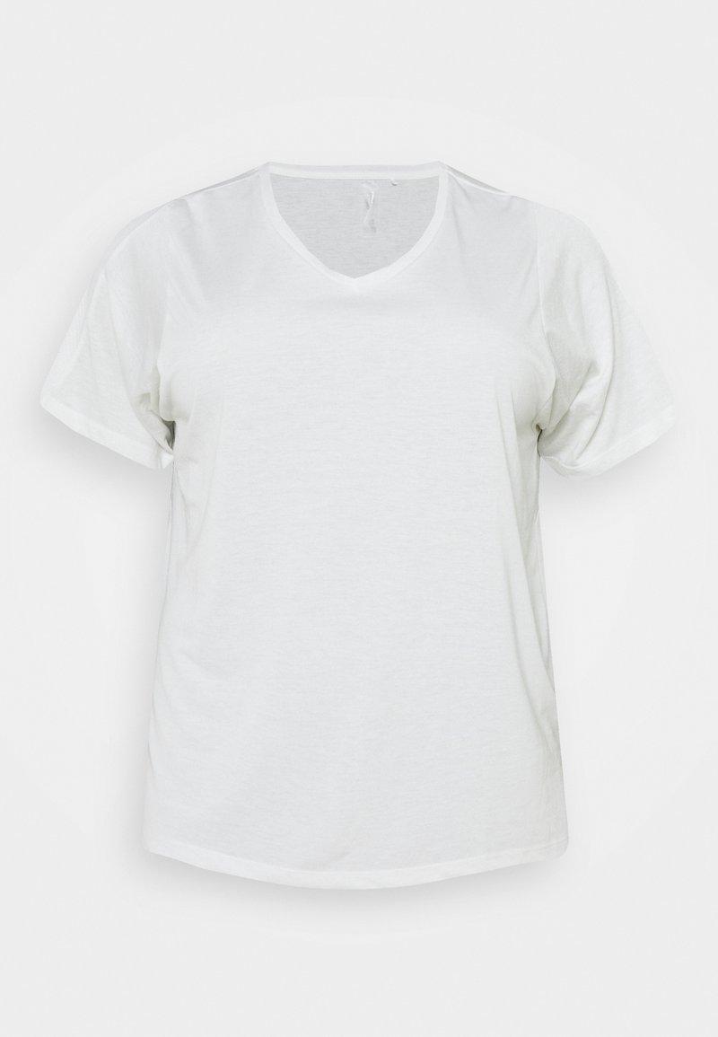 ONLY Play - ONPMEE TRAIN TEE CURVY - Basic T-shirt - white