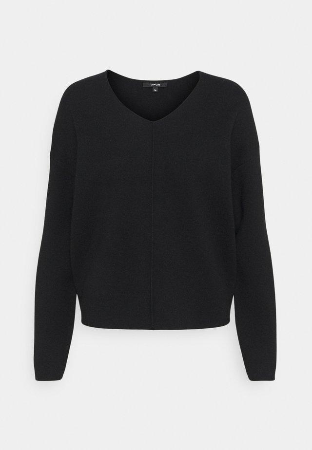 PALASKA - Sweter - black