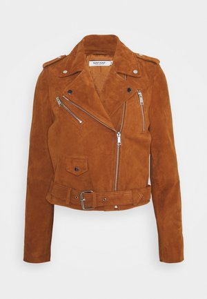 CHOUPI - Leather jacket - terre de sienne