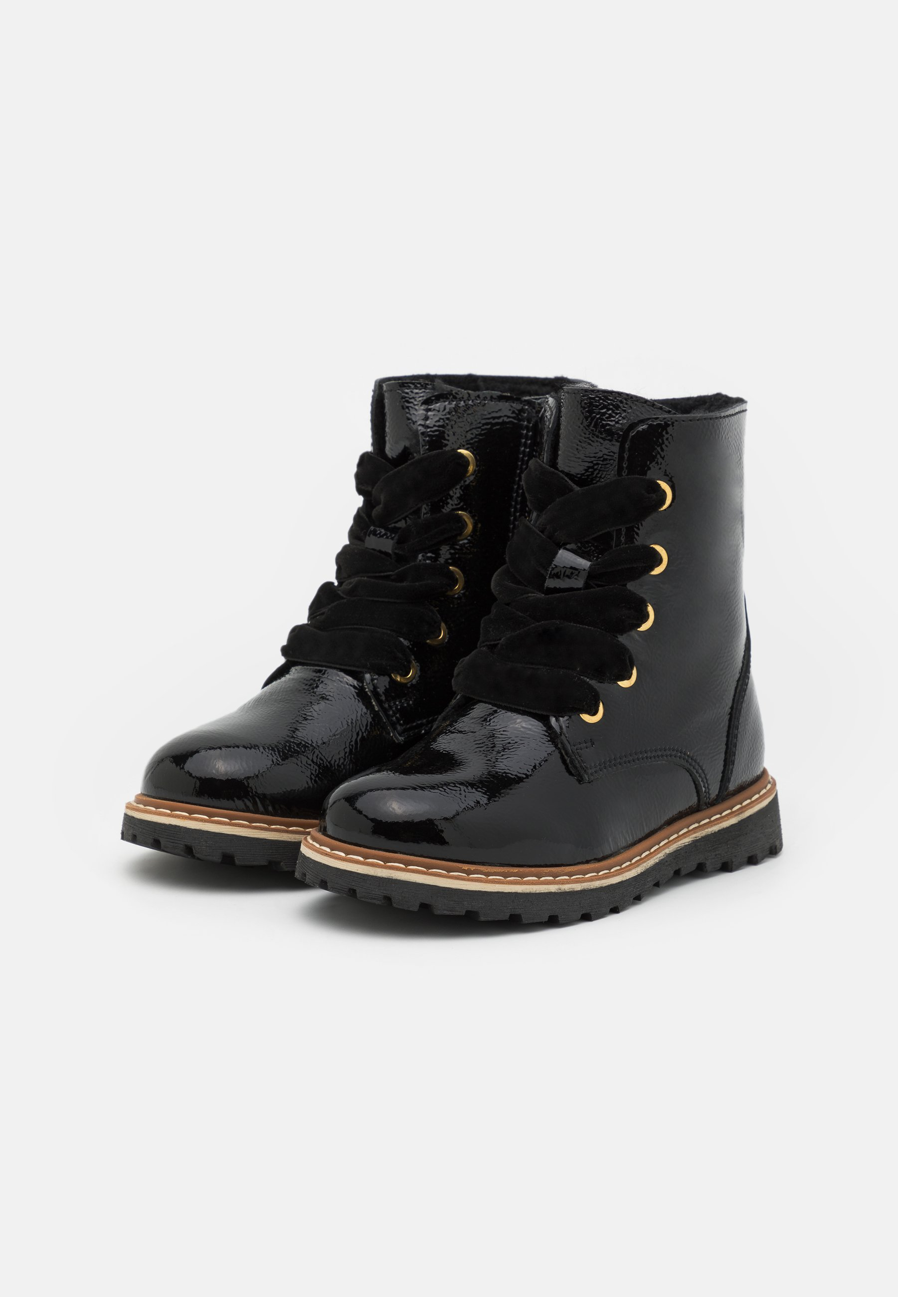 Kids LEATHER - Lace-up ankle boots