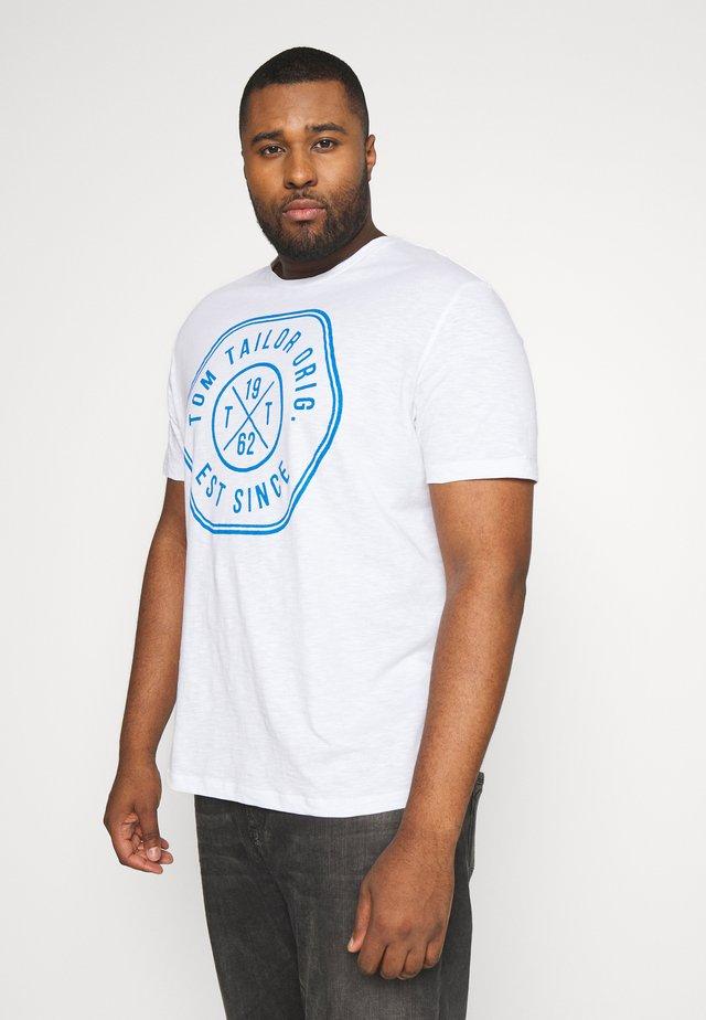 SLUB WITH PRINT - T-shirt print - white