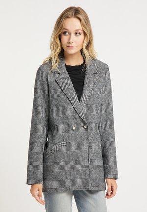 Short coat - glencheck schwarz