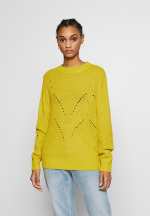 BYMELISSA PATTERN JUMPER - Jumper - acid yellow