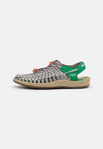 UNEEK - Walking sandals - steel grey/jolly green