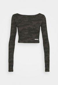 SQUATWOLF - WARRIOR CROP TEE - Long sleeved top - black - 0