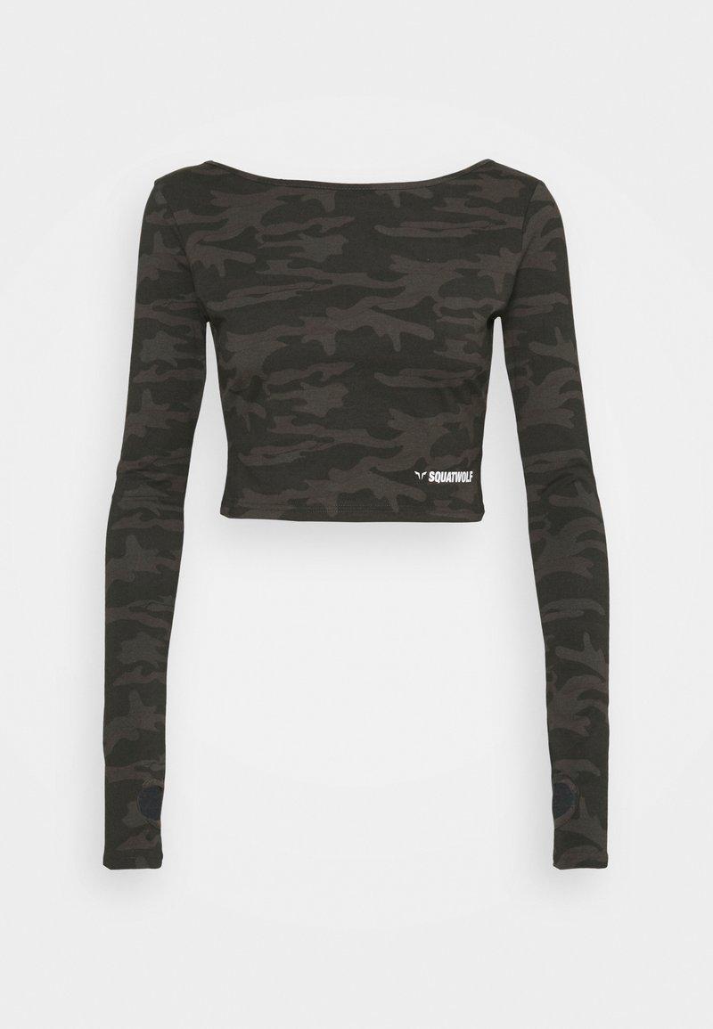 SQUATWOLF - WARRIOR CROP TEE - Long sleeved top - black
