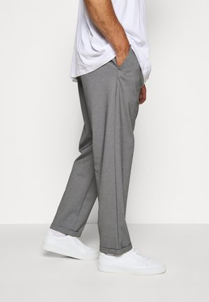 EBERLEIN WITH ROLL UP - Trousers - grey mix