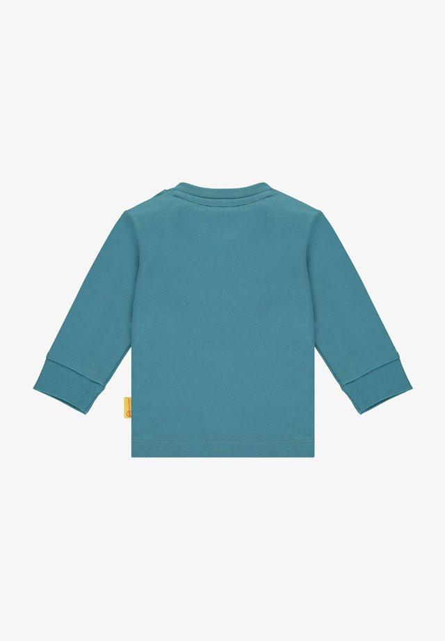 MIT TEDDYBÄR APPLIKATION - Langarmshirt - adriatic blue