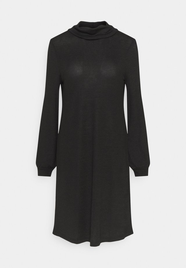 TURTLENECK DRESS - Strikket kjole - true black