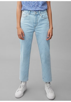 Straight leg jeans - multi/bleached blue