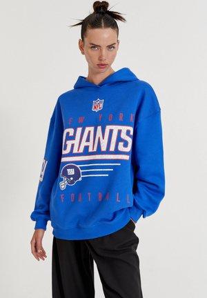 NFL NEW YORK GIANTS MIT KAPUZE - Luvtröja - blue denim