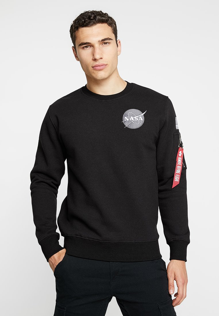 Alpha Industries NASA Sweater schwarzZwart Zalando.nl