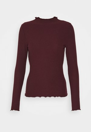 ONLEMMA HIGH NECK - Long sleeved top - madder brown