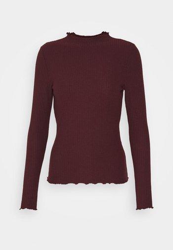ONLEMMA HIGH NECK - Long sleeved top - madder brown