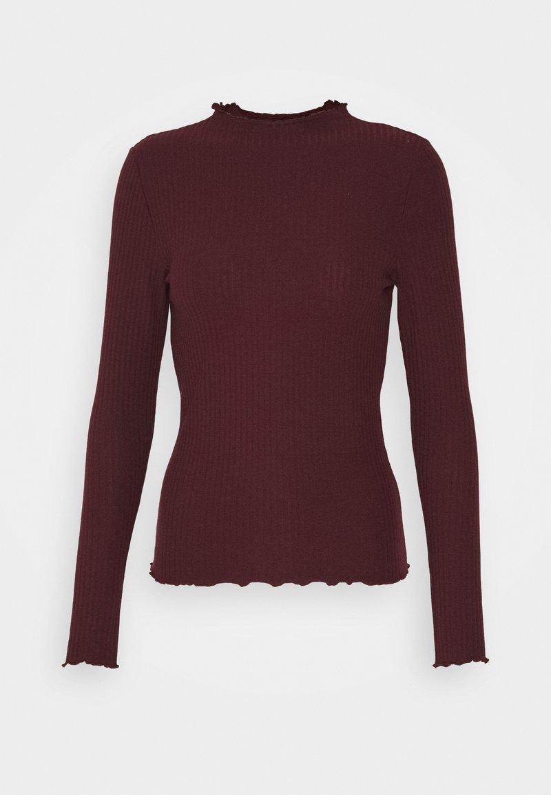 ONLY - ONLEMMA HIGH NECK - Long sleeved top - madder brown