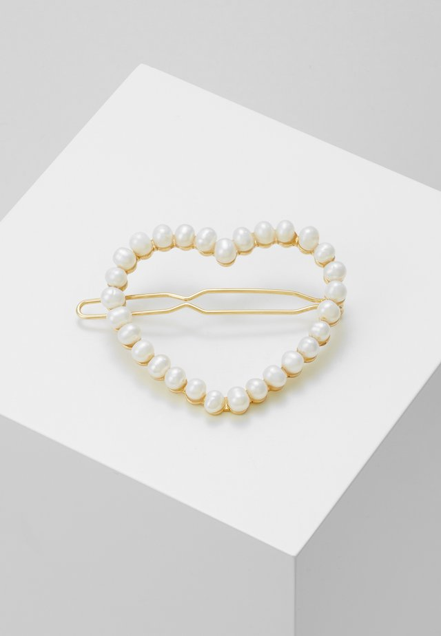 LOU LARGE HEART BARRETTE - Hårstyling-accessories - off-white