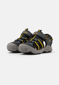 Geox - JR KYLE - Walking sandals - grey/yellow - 1