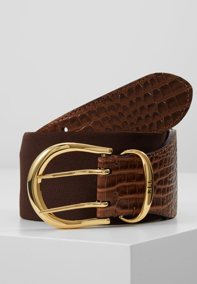 CROC EMBOSS STRETCH CORNWALL - Waist belt - umber brown