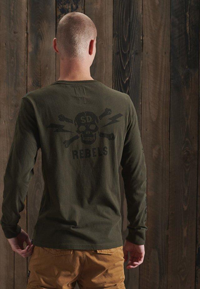 Maglietta a manica lunga - dark grey green