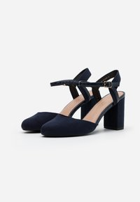New Look Wide Fit - WIDE FIT SHUTTER 2PART - High heels - navy - 2