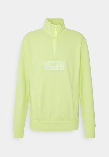 TONAL LOGO ZIP MOCK UNISEX - Sweatshirt - faded lime