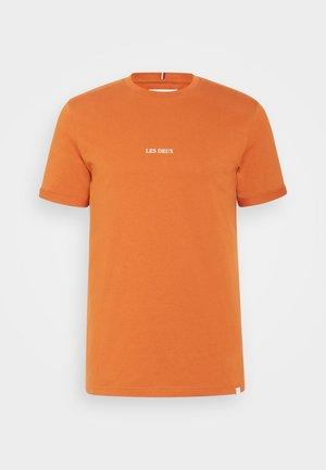LENS - Basic T-shirt - bombay brown/ivory
