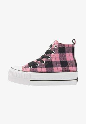 KAYA MID - Sneakers hoog - pink checker