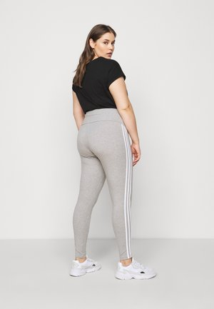 STRIPES TIGHT - Legginsy - grey/white