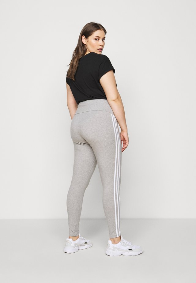 STRIPES TIGHT - Leggingsit - grey/white