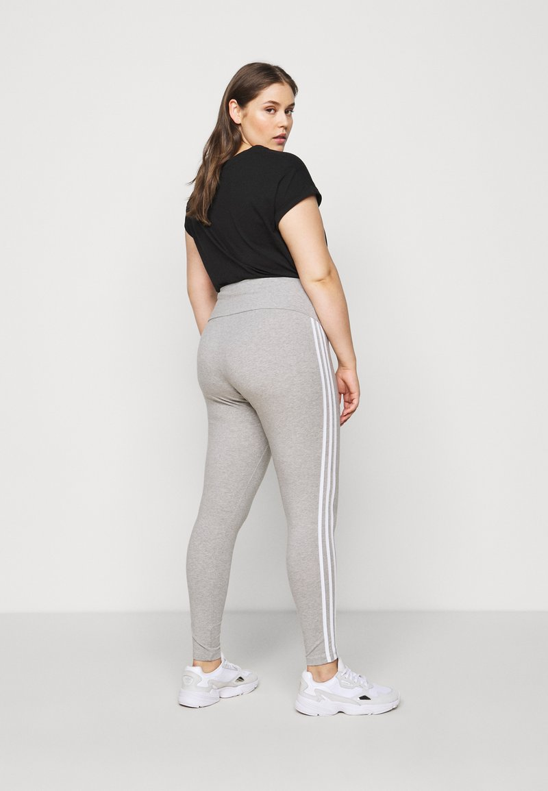 adidas Originals - STRIPES TIGHT - Leggings - Trousers - grey/white