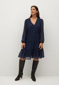 Violeta by Mango - CAPA - Day dress - dunkles marineblau - 1