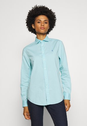 RELAXED LONG SLEEVE BUTTON FRONT SHIRT - Button-down blouse - turquoise cloud