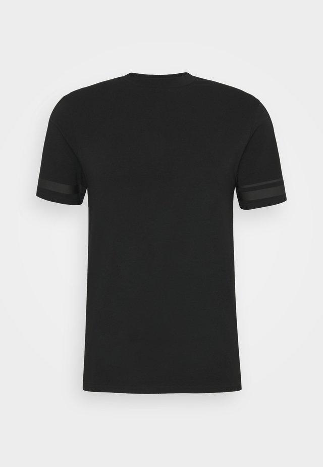 BONDED TAPE DETAIL SLIM FIT - T-shirt basique - black