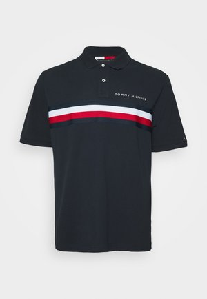 GLOBAL CHEST TAPE - Polo shirt - blue