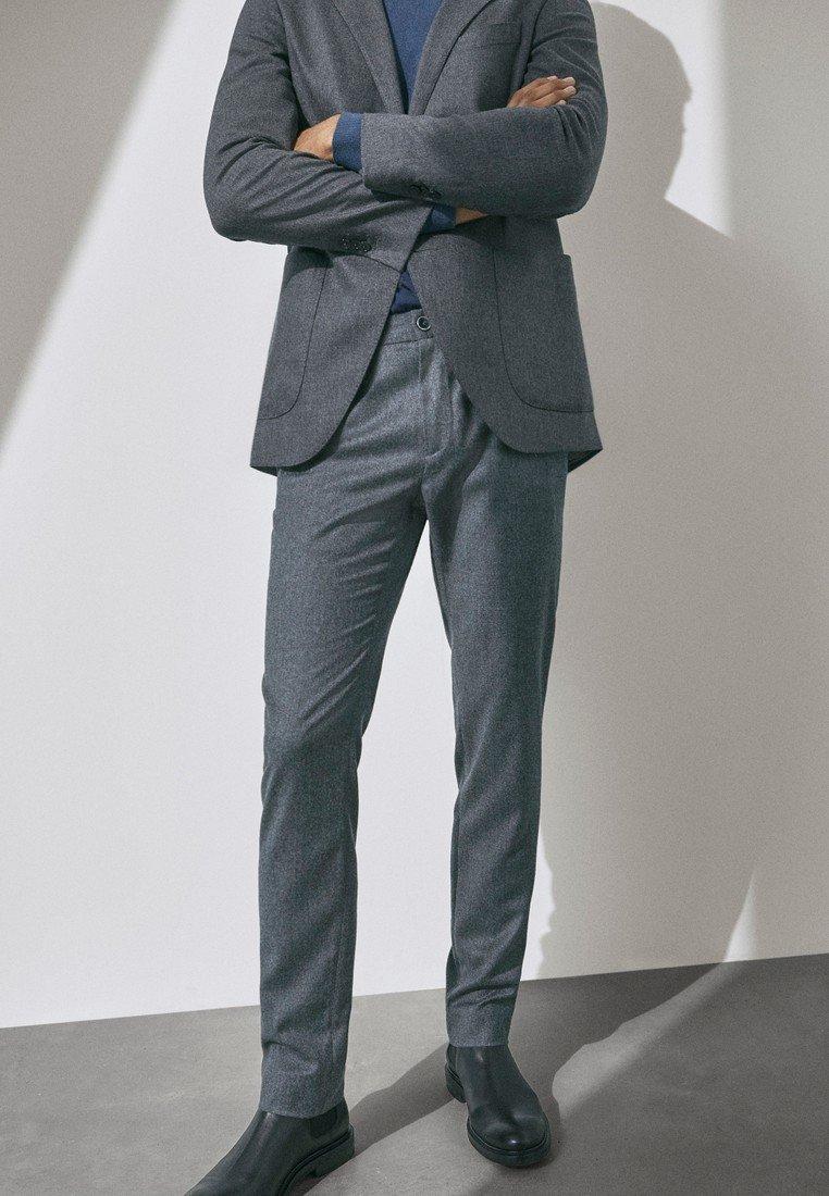 Massimo Dutti - SLIM-FIT - Trousers - grey