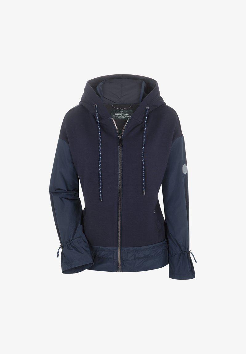 Milestone - Zip-up sweatshirt - nachtblau