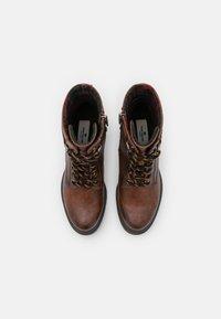 TOM TAILOR - Platform ankle boots - cognac - 5